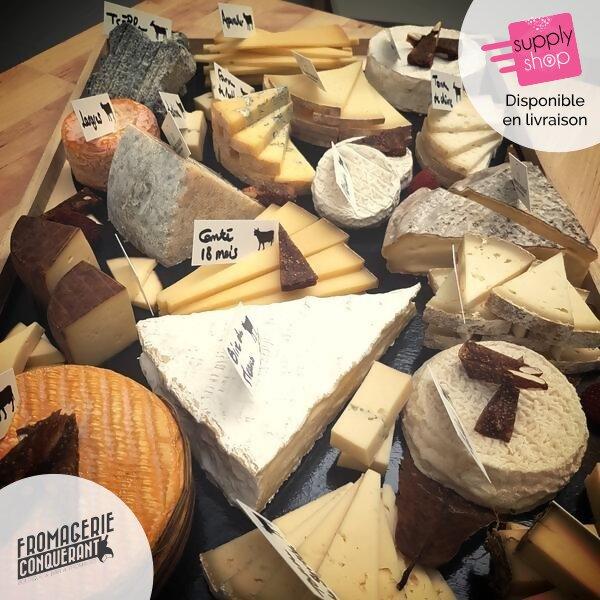 """Plateau de fromages """"sélection"""" Fromagerie Conquérant"""