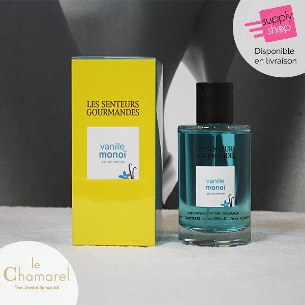 Eau de parfum vanille monoï Les Senteurs Gourmandes Le Chamarel Spa