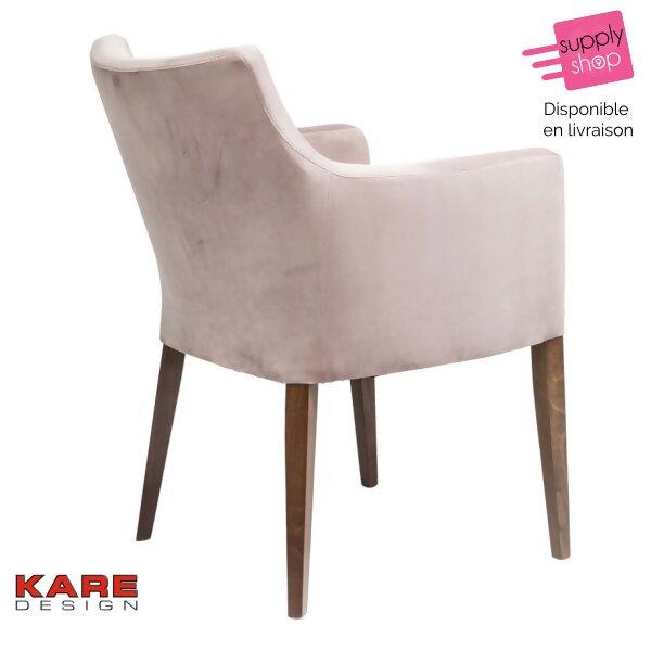 velours Supplyshop Kare en rose Chaise Design jLAR54