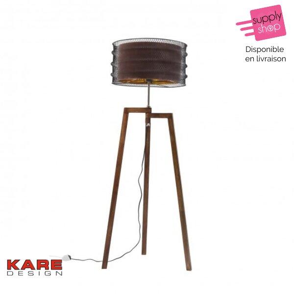 lampadaire-wire-tripod-marron-kare-design
