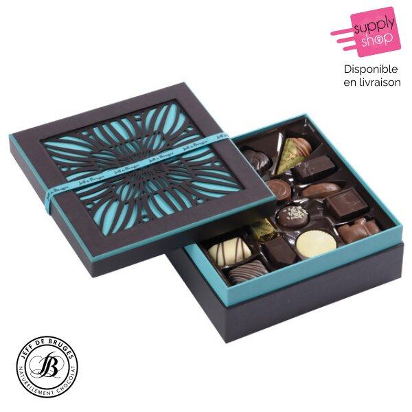 Boîte carrée chocolats Jeff de Bruges