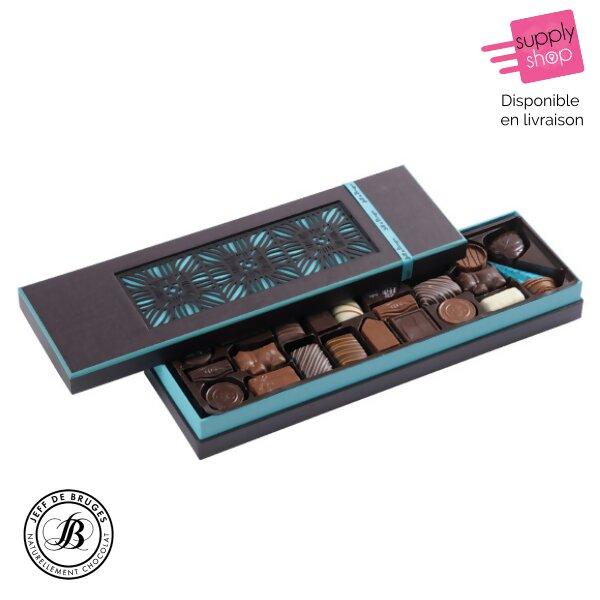 Boîte rectangulaire chocolats Jeff de Bruges