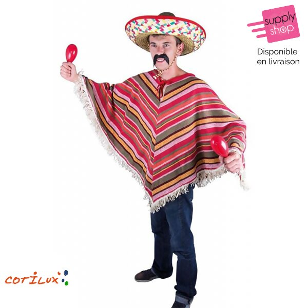 poncho mexicain cotilux