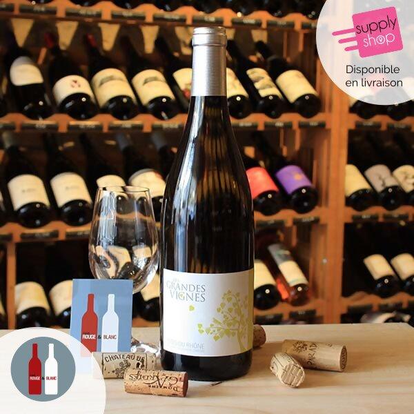 vin blanc les grandes vignes vignerons d'estézargues cave rouge & blanc