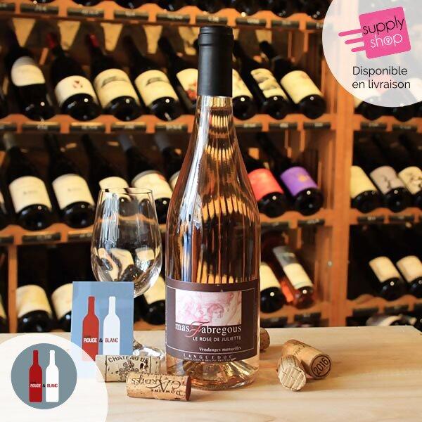 vin rosé de juliette mas fabregous cave rouge & blanc