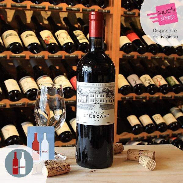 vin rouge eden château l'escart cave rouge & blanc