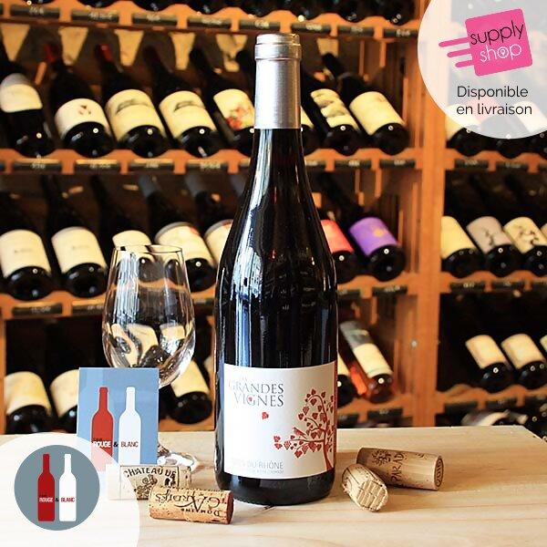 vin rouge les grandes vignes cotes du rhone vignerons d'estézargues cave rouge & blanc