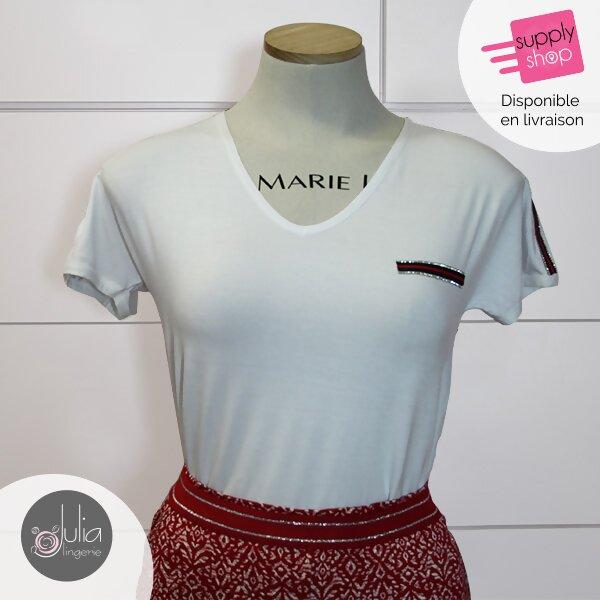 julia lingerie caen tee-shirt blanc janira