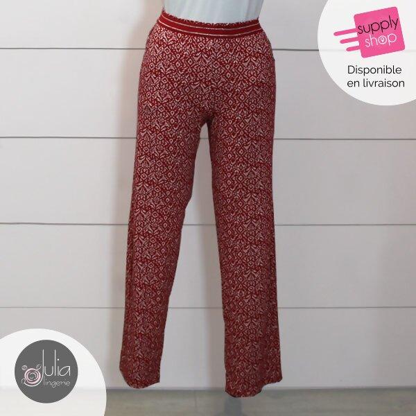 pantalon fluide rouge janira julia lingerie caen