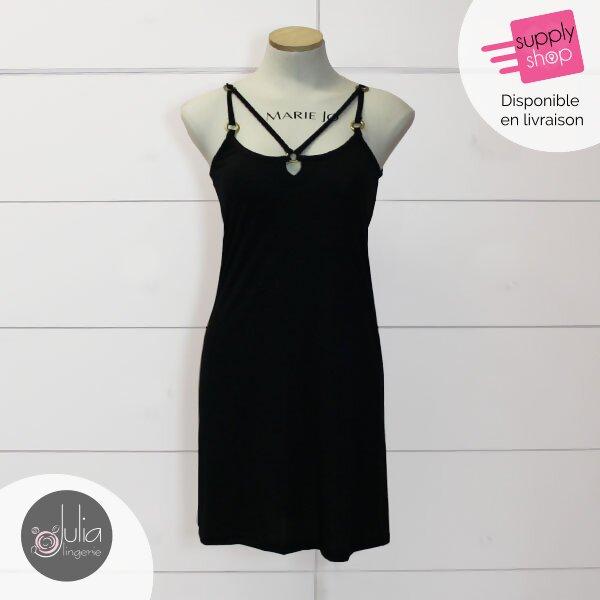 robe de plage noire julia lingerie caen