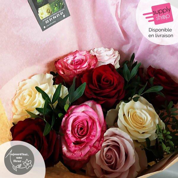 Bouquet de rose aujourd'hui une fleur caen