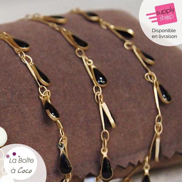 bracelet noir la boite à coco caen 1