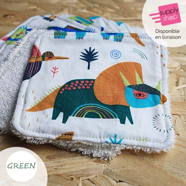 lingettes réutilisables boutique d'invention green 1