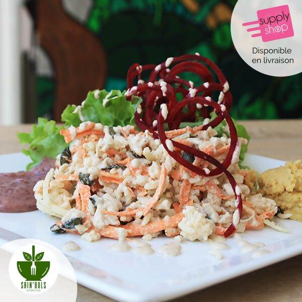 sain'bols au superfood riz cuisiné végétarien caen