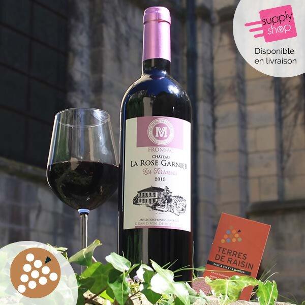 vin rouge château la rose garnier les terrases caviste terres de raisin