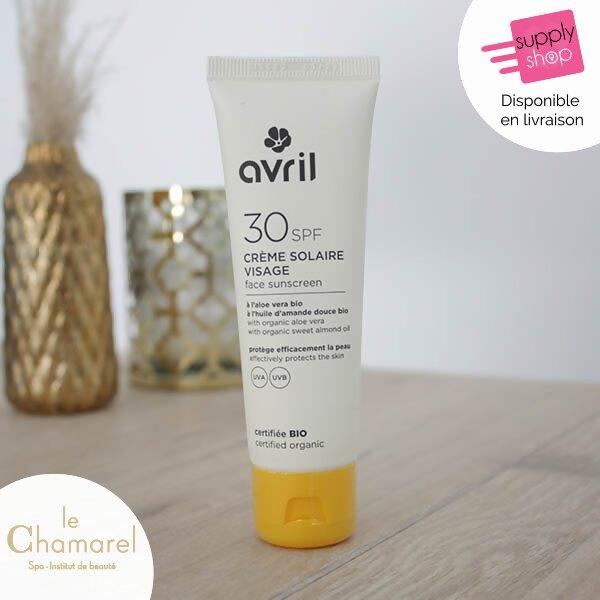 crème solaire visage 30 SPF bio avril