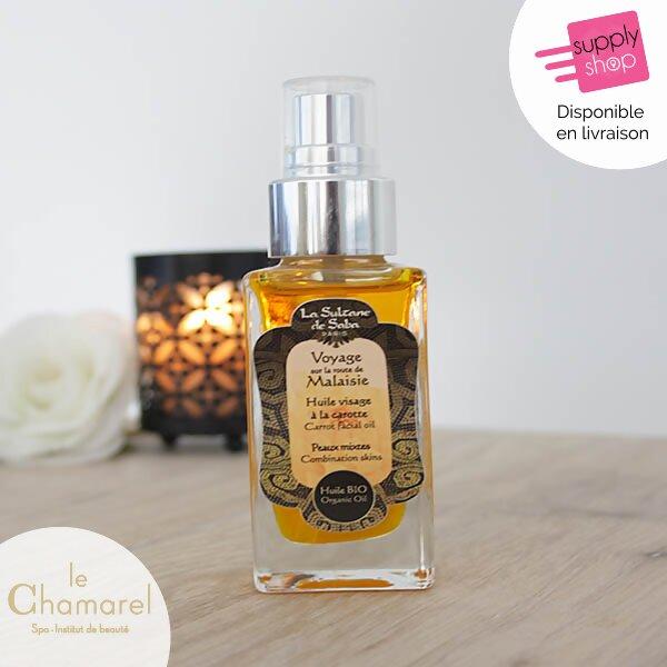 huile visage carotte la sultane de saba le chamarel spa