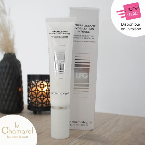 sérum lissant hydratation intense visage lpg le chamarel spa