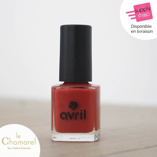 vernis rouge retro bio avril le chamarel spa