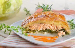 feuilleté saumon poireaux