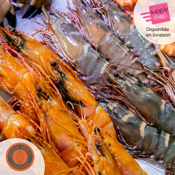 gambas sauvages cuites maison