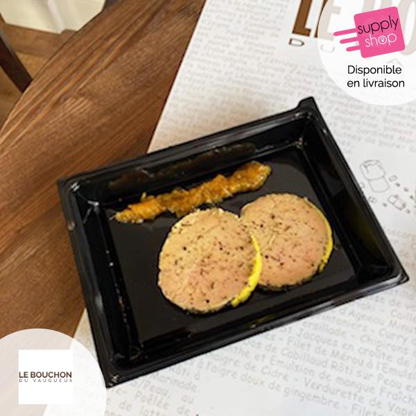 Foie gras de canard avec condiment aux fruits Le Bouchon du Vaugueux
