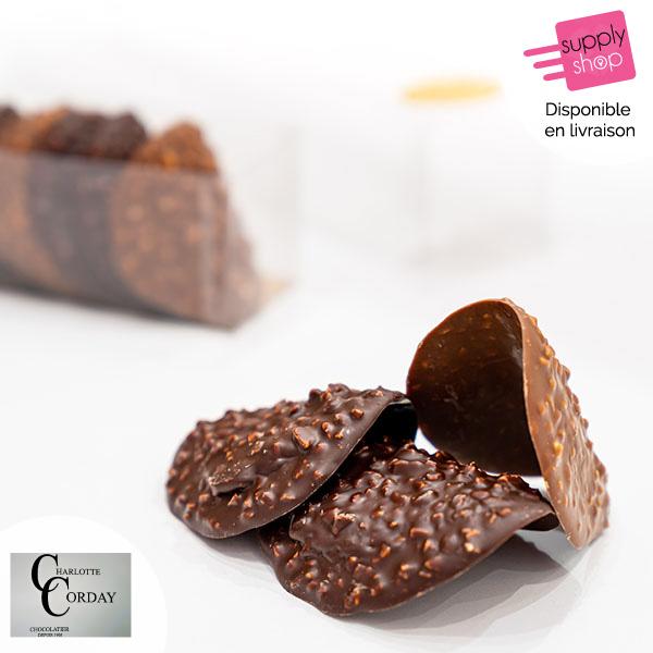 Tuiles en chocolat