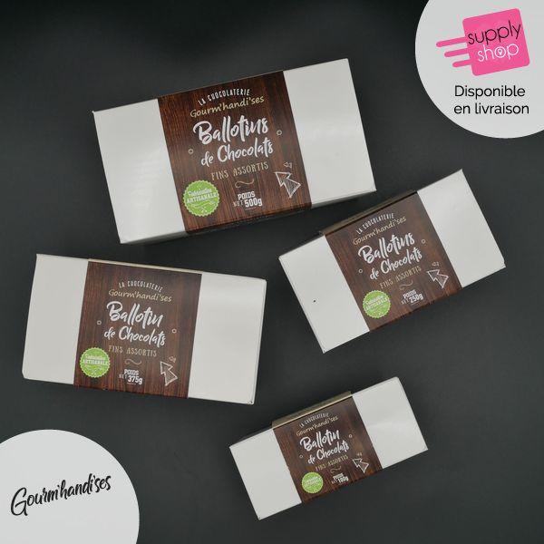 Ballotin de chocolats assortis Gourm'handi'ses