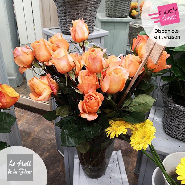 bouquet de roses hall de la fleur