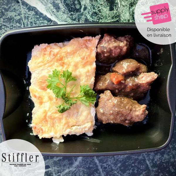 Plat du jour : Bœuf bourguignon aux gratins dauphinois Stiffler